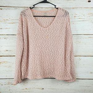 Zara Trafaluc Pink Knobby Knit Sweater